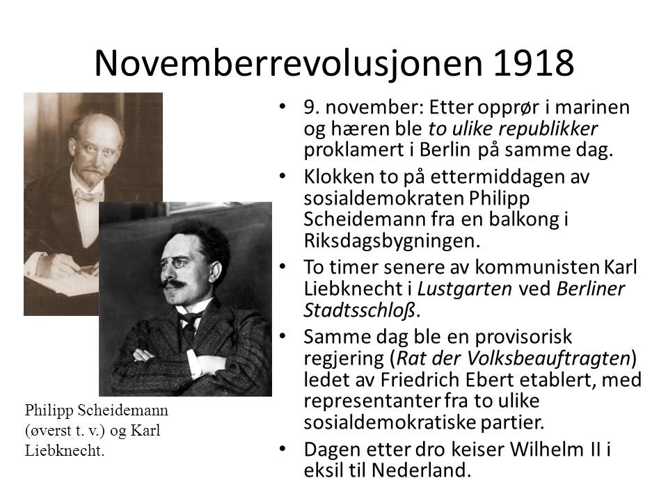 Novemberrevolusjonen 1918