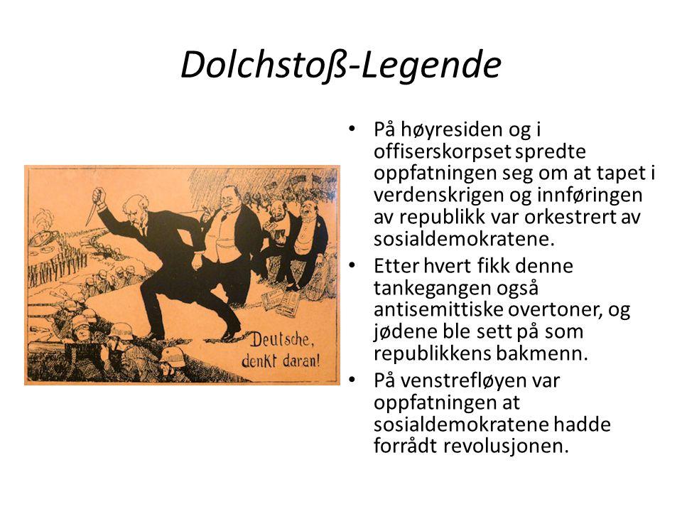 Dolchstoß-Legende