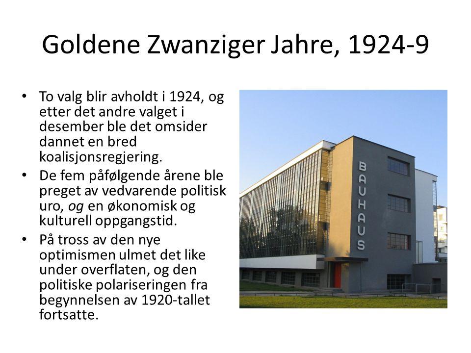 Goldene Zwanziger Jahre, 1924-9