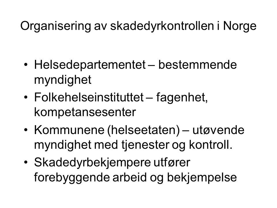 Organisering av skadedyrkontrollen i Norge