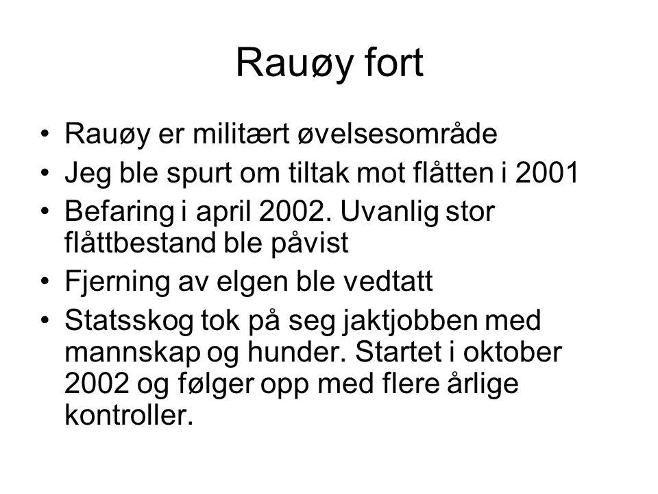 Rauøy fort Rauøy er militært øvelsesområde