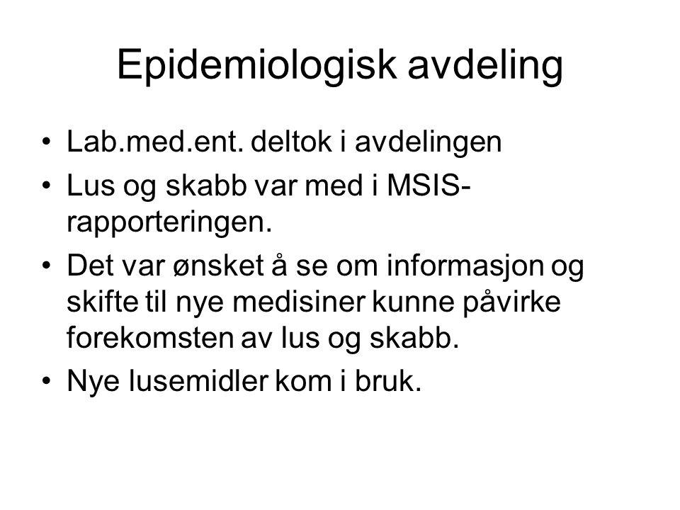 Epidemiologisk avdeling