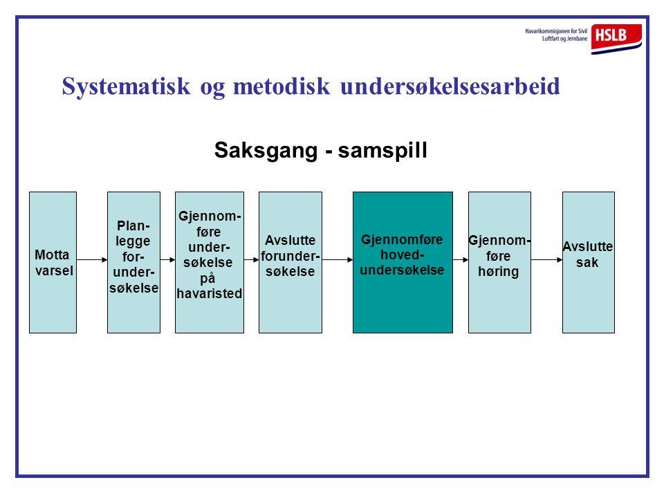 Systematisk og metodisk undersøkelsesarbeid