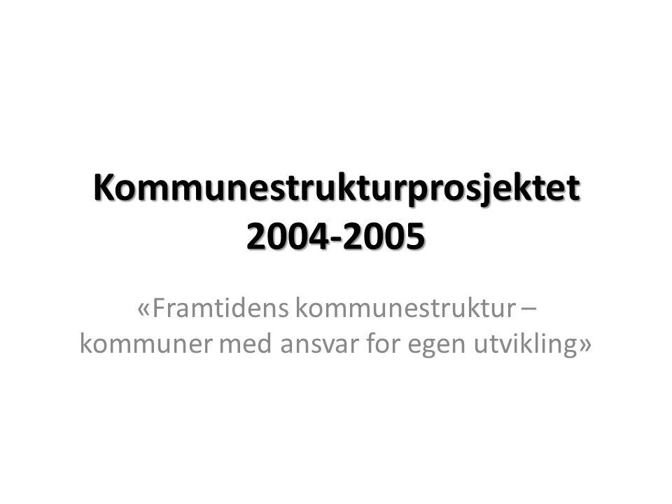 Kommunestrukturprosjektet 2004-2005