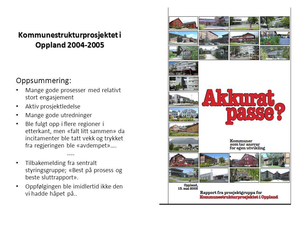 Kommunestrukturprosjektet i Oppland 2004-2005