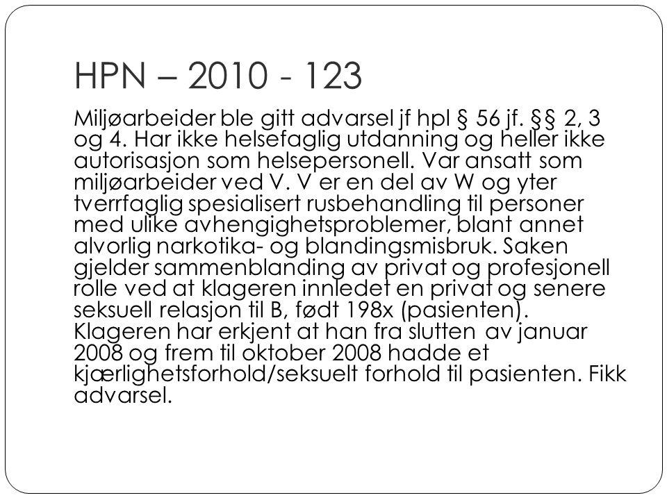 HPN – 2010 - 123
