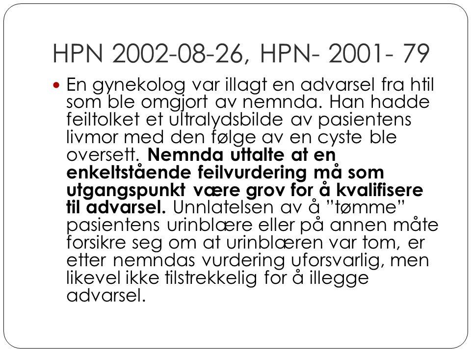 HPN 2002-08-26, HPN- 2001- 79