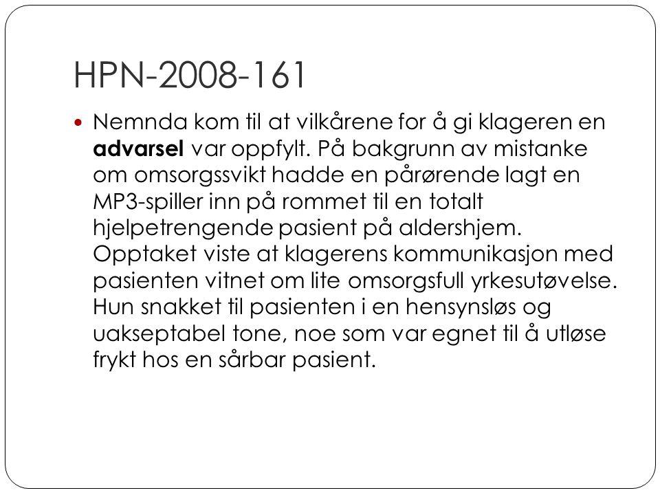 HPN-2008-161