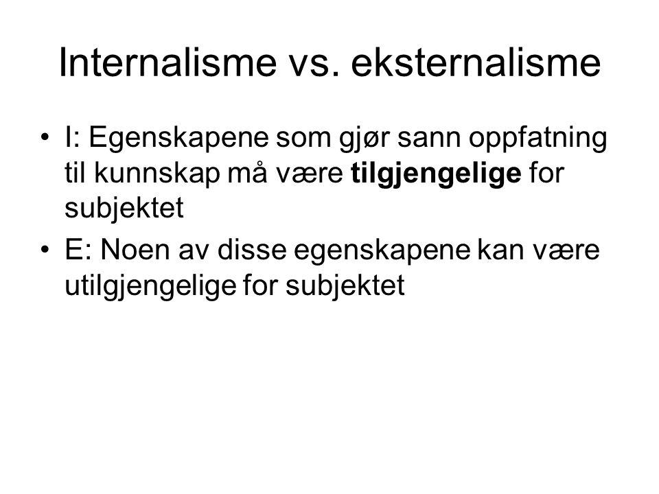 Internalisme vs. eksternalisme