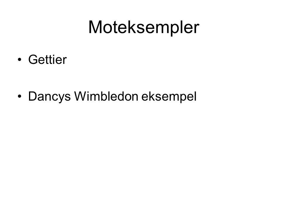 Moteksempler Gettier Dancys Wimbledon eksempel