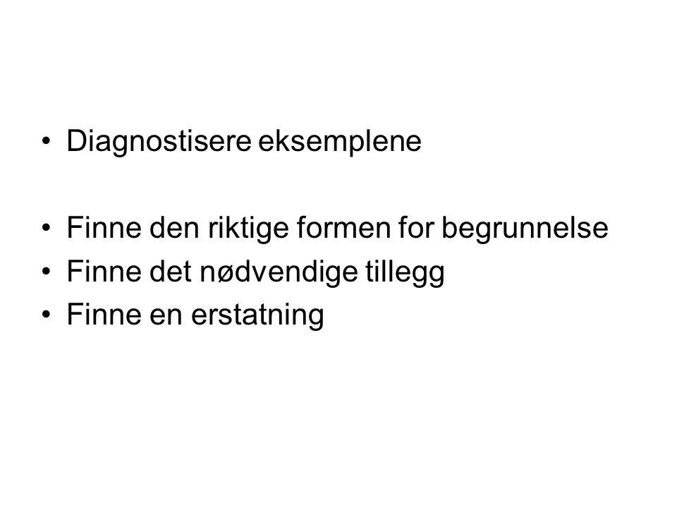 Diagnostisere eksemplene