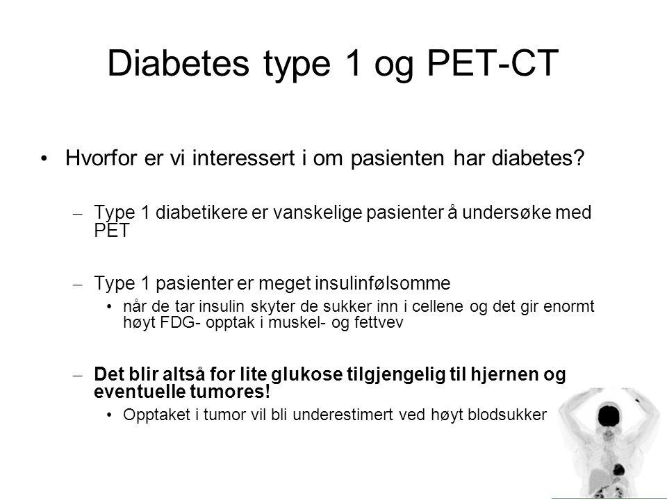 Diabetes type 1 og PET-CT