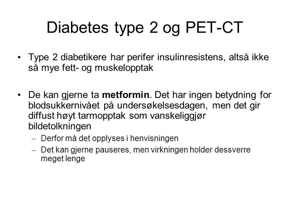 Diabetes type 2 og PET-CT