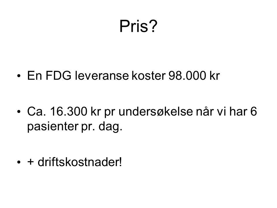 Pris En FDG leveranse koster 98.000 kr
