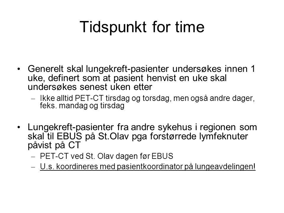 Tidspunkt for time