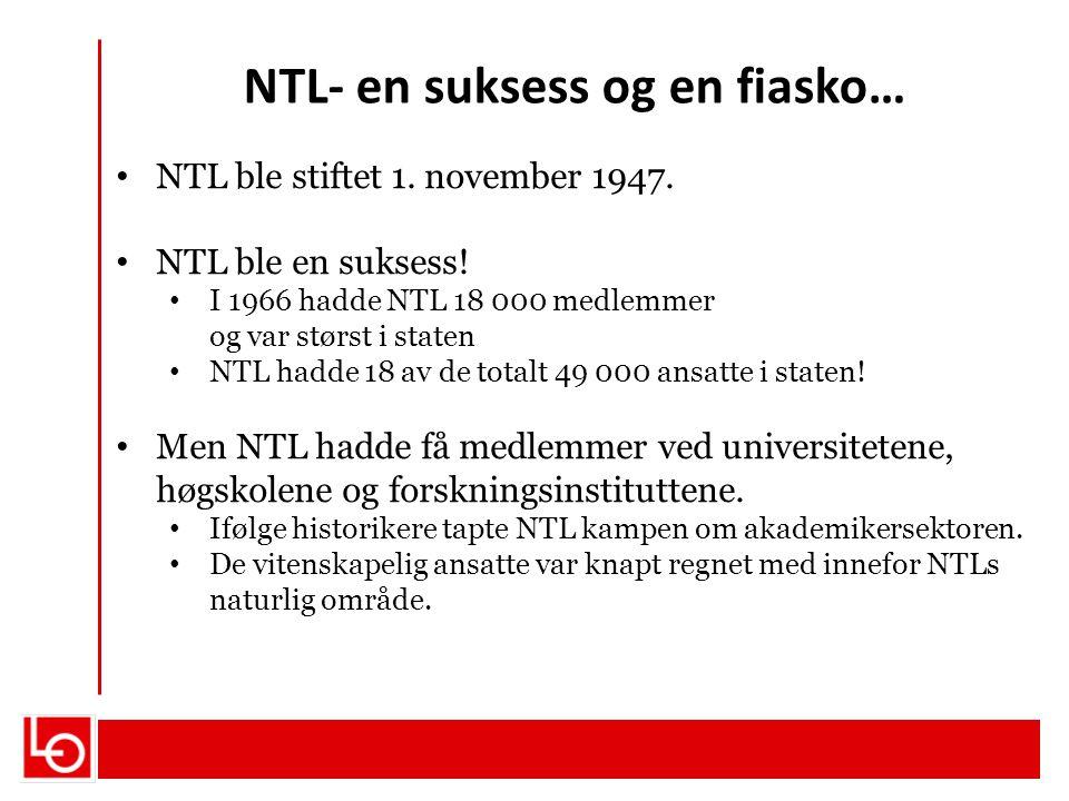 NTL- en suksess og en fiasko…