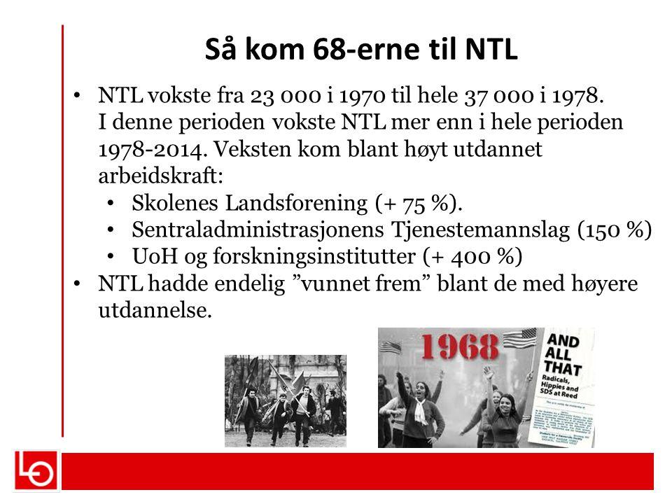 Så kom 68-erne til NTL
