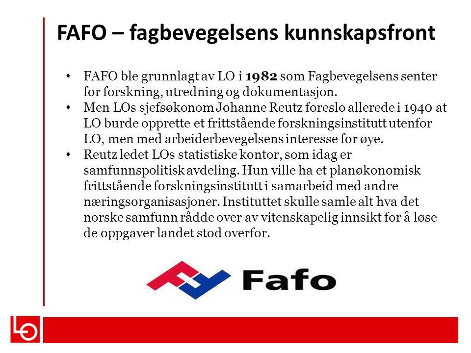 FAFO – fagbevegelsens kunnskapsfront