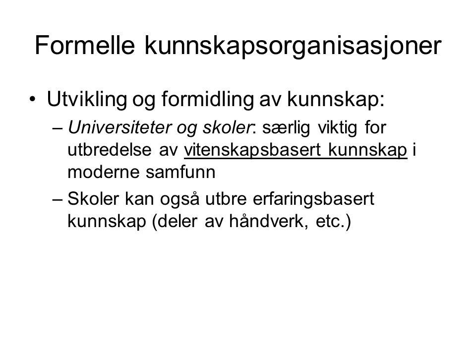 Formelle kunnskapsorganisasjoner