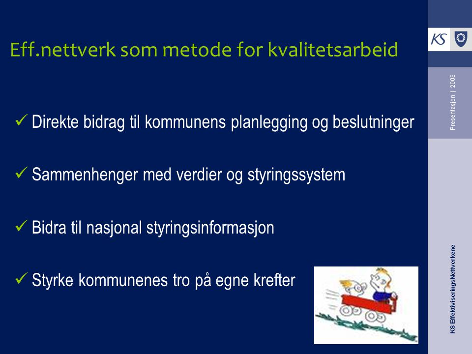 Eff.nettverk som metode for kvalitetsarbeid