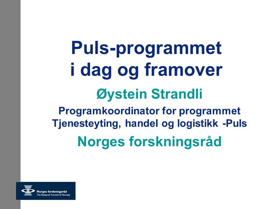 Puls-programmet i dag og framover