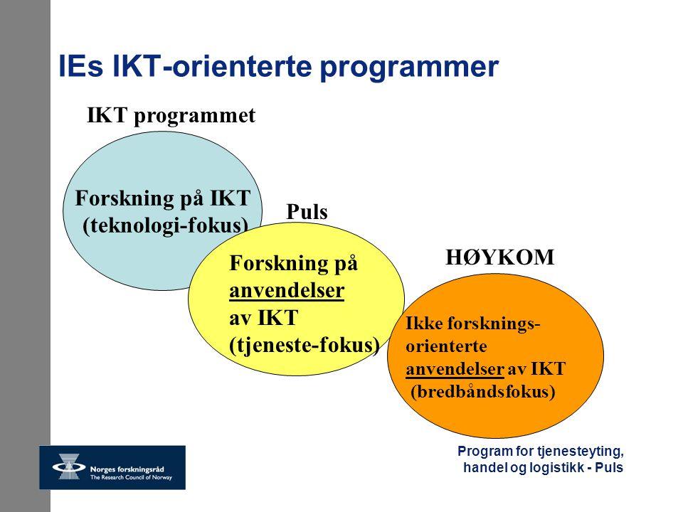 IEs IKT-orienterte programmer