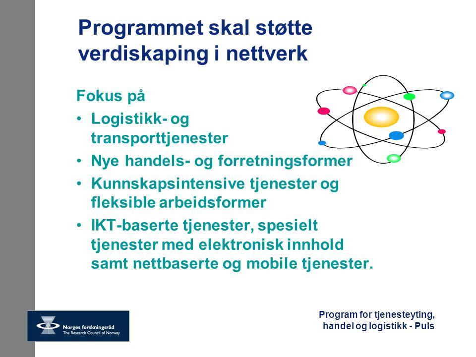 Programmet skal støtte verdiskaping i nettverk