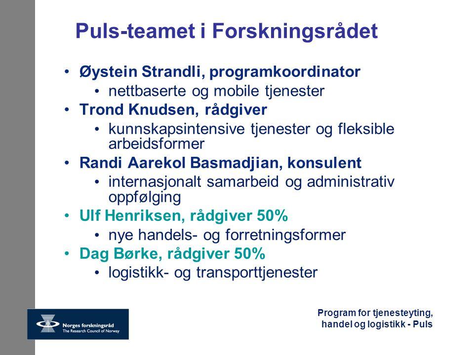 Puls-teamet i Forskningsrådet