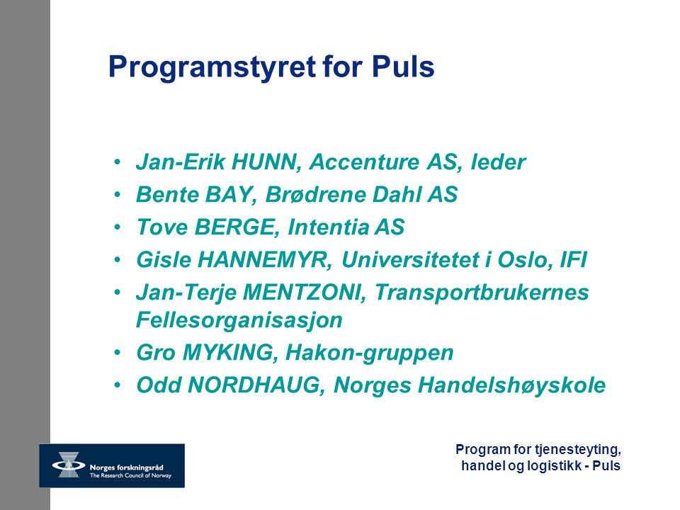 Programstyret for Puls