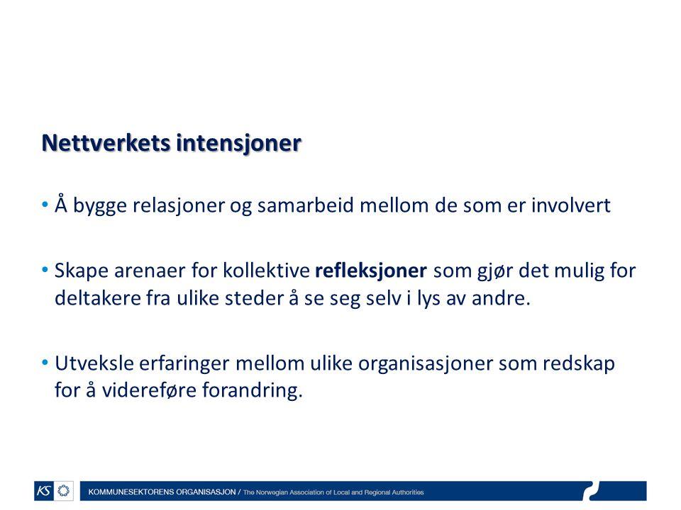Nettverkets intensjoner