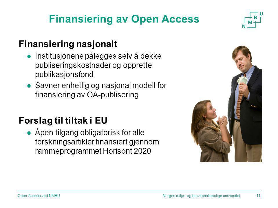 Finansiering av Open Access