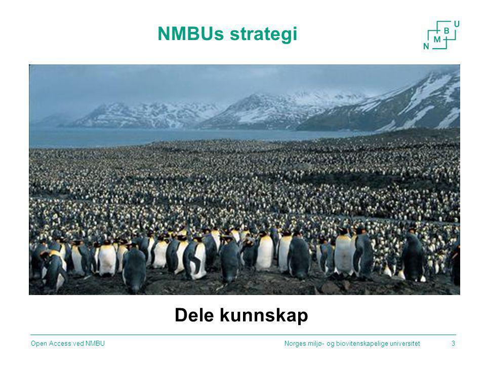 NMBUs strategi Dele kunnskap Open Access ved NMBU