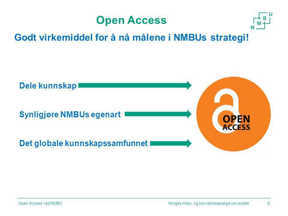 Open Access Godt virkemiddel for å nå målene i NMBUs strategi!