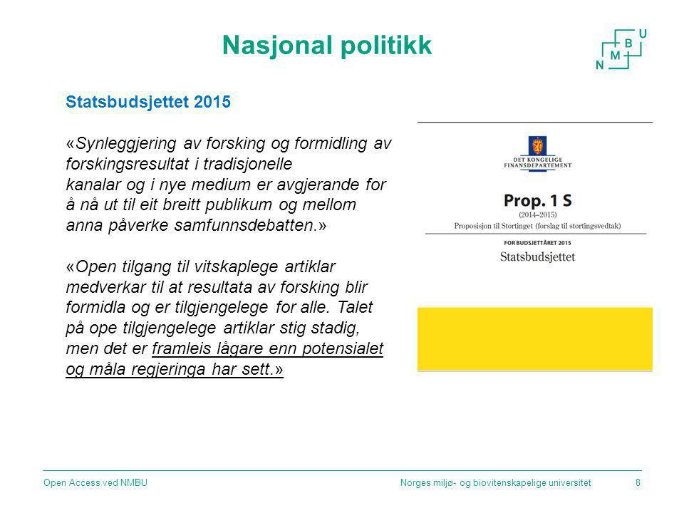 Nasjonal politikk Statsbudsjettet 2015