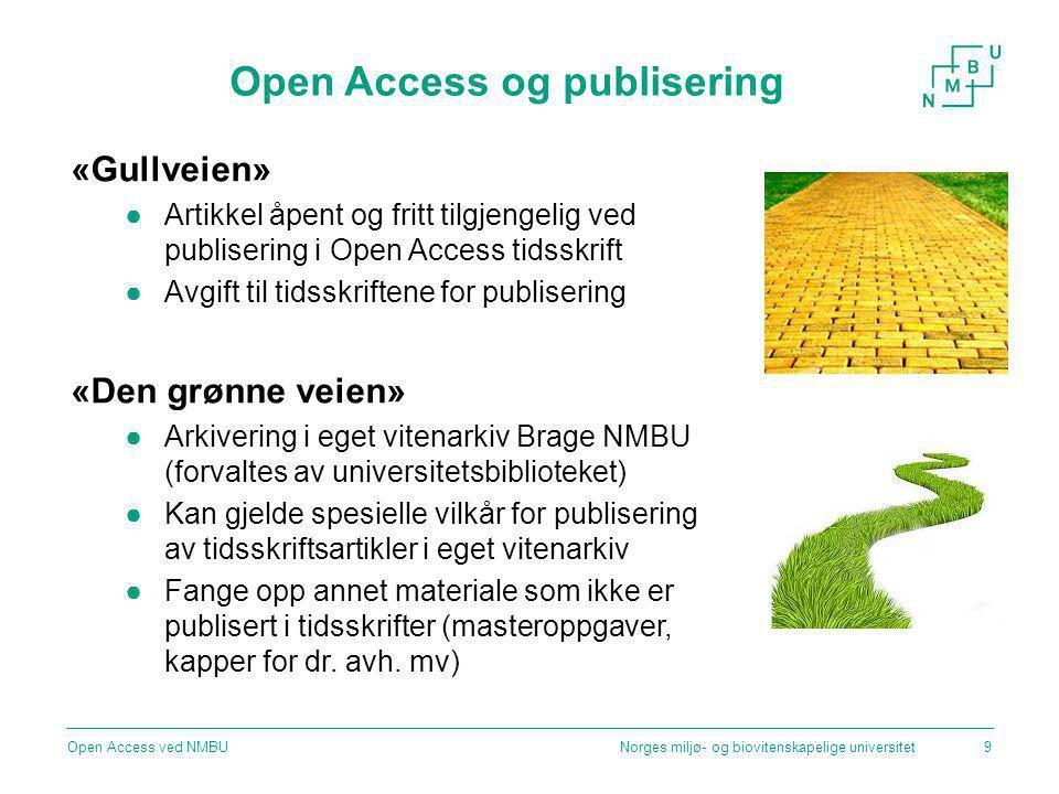 Open Access og publisering