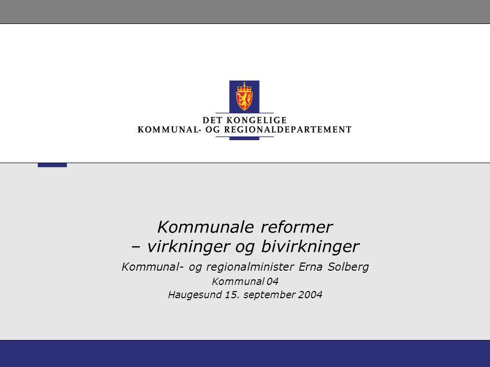 Kommunale reformer – virkninger og bivirkninger