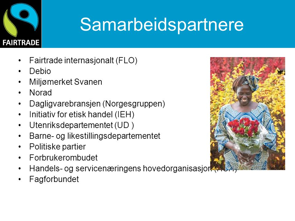 Samarbeidspartnere Fairtrade internasjonalt (FLO) Debio