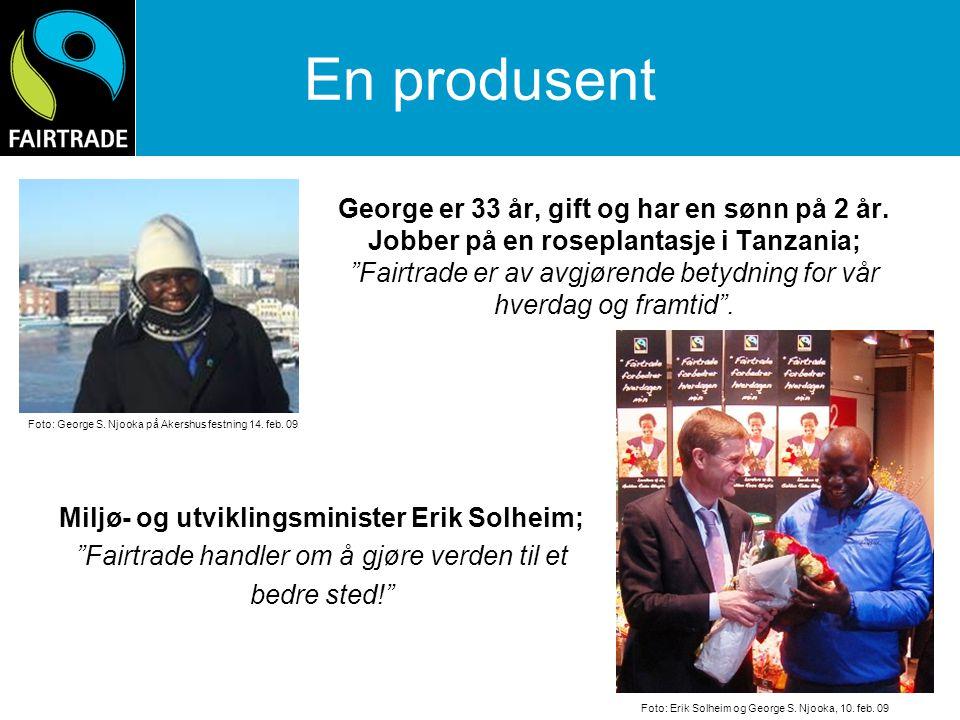 Miljø- og utviklingsminister Erik Solheim;