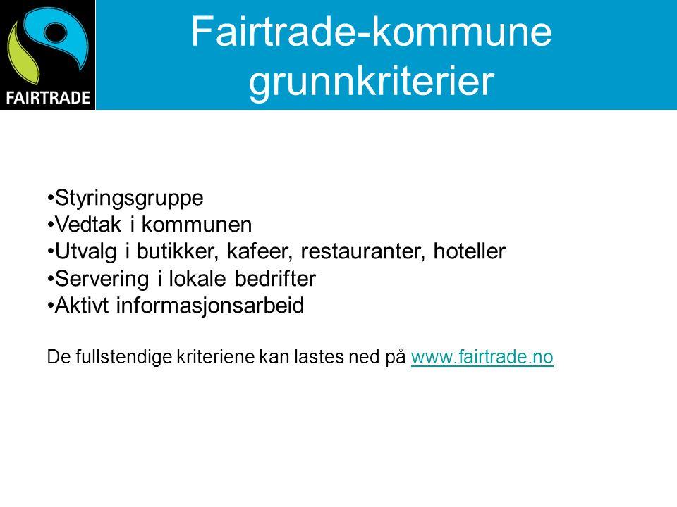 Fairtrade-kommune grunnkriterier