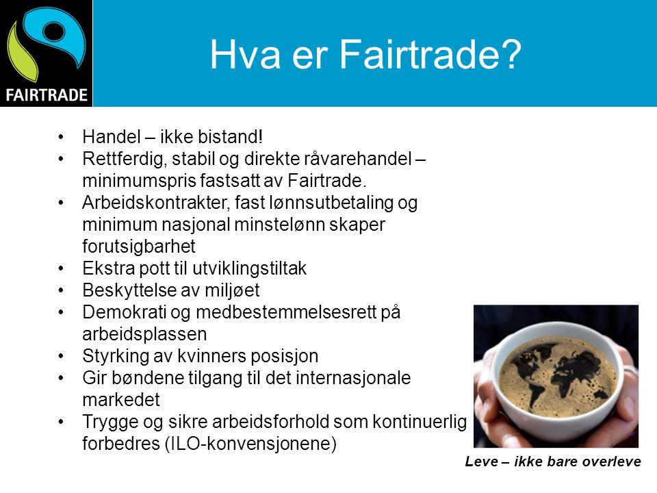 Hva er Fairtrade Handel – ikke bistand!