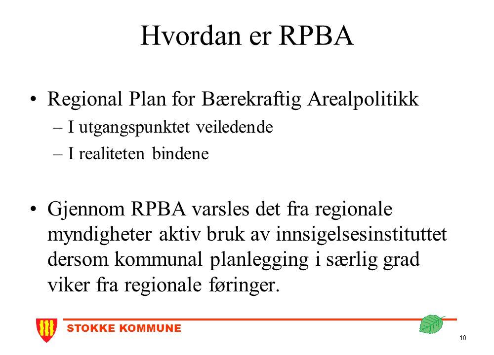 Hvordan er RPBA Regional Plan for Bærekraftig Arealpolitikk