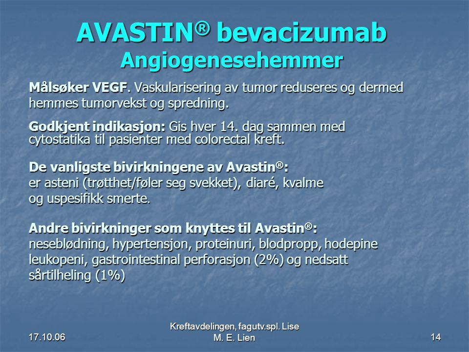 AVASTIN® bevacizumab Angiogenesehemmer