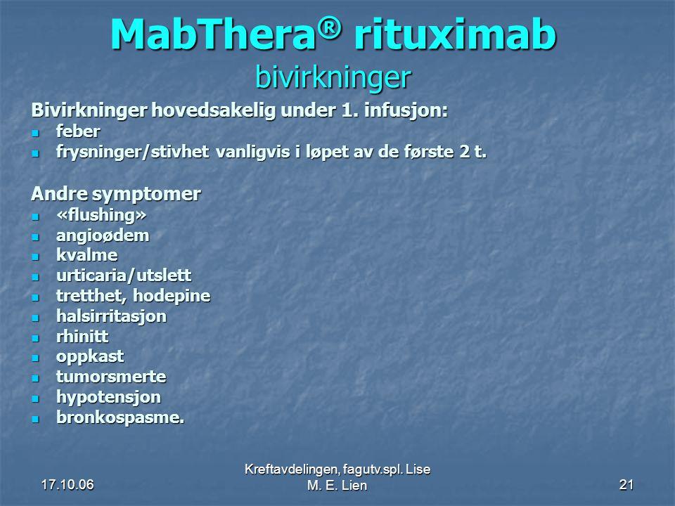 MabThera® rituximab bivirkninger