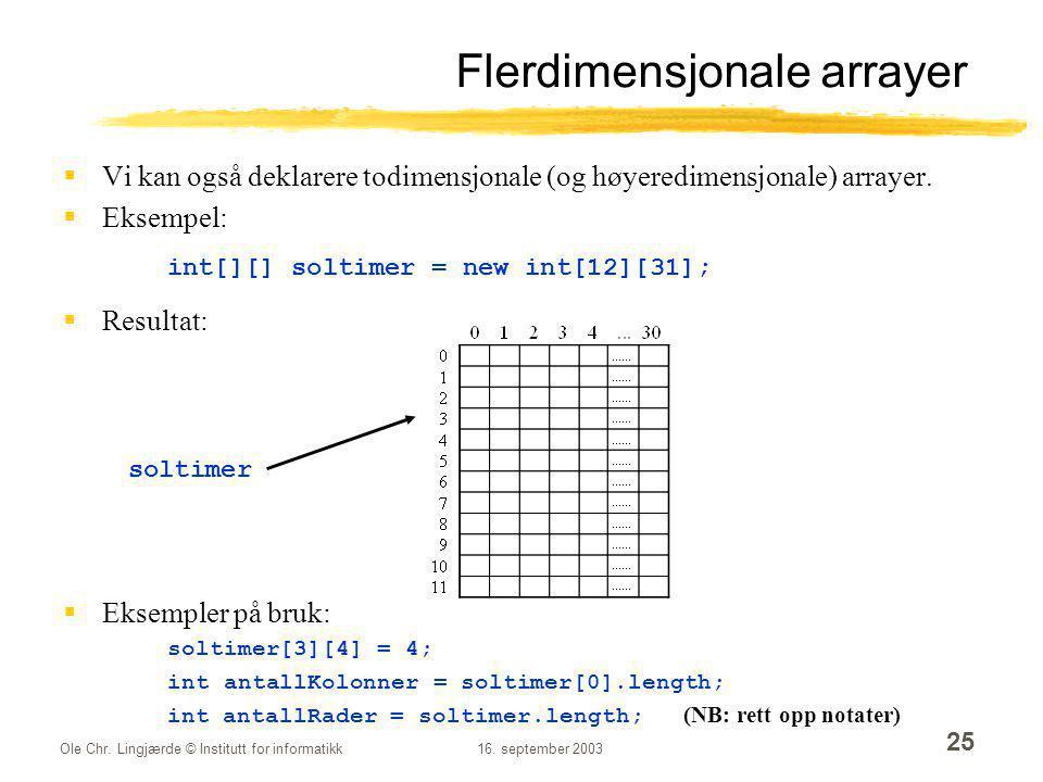 Flerdimensjonale arrayer