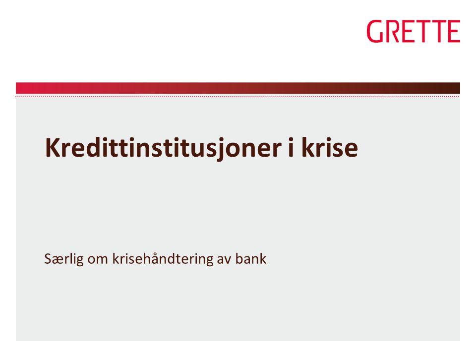 Kredittinstitusjoner i krise