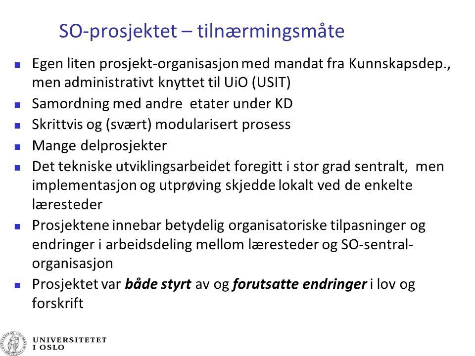 SO-prosjektet – tilnærmingsmåte