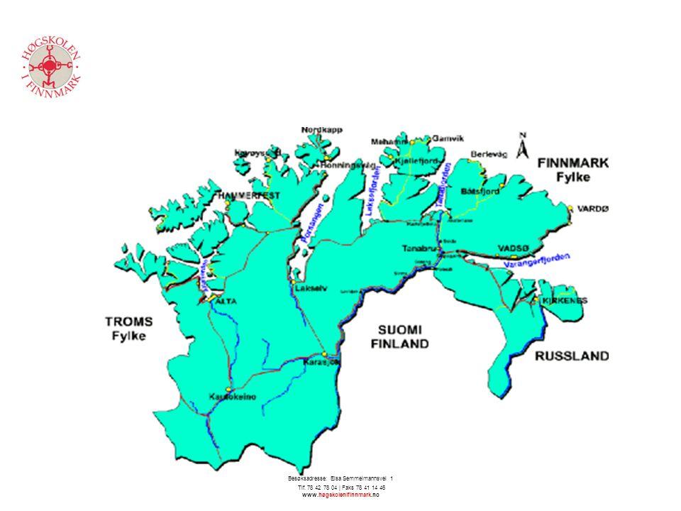 Høgskolen i Finnmark - Avdeling for helsefag | 9613 Hammerfest | Besøksadresse: Elsa Semmelmannsvei 1