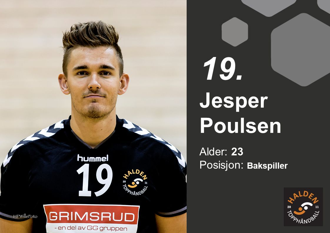 19. Jesper Poulsen Alder: 23 Posisjon: Bakspiller