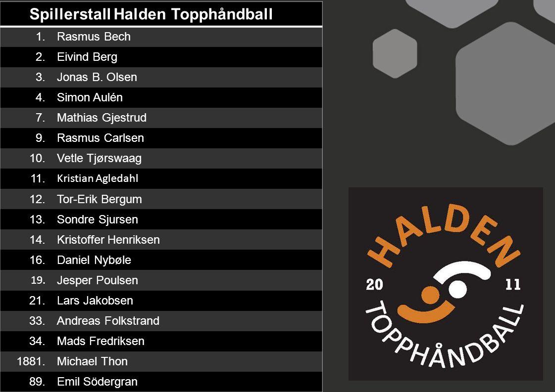 Spillerstall Halden Topphåndball