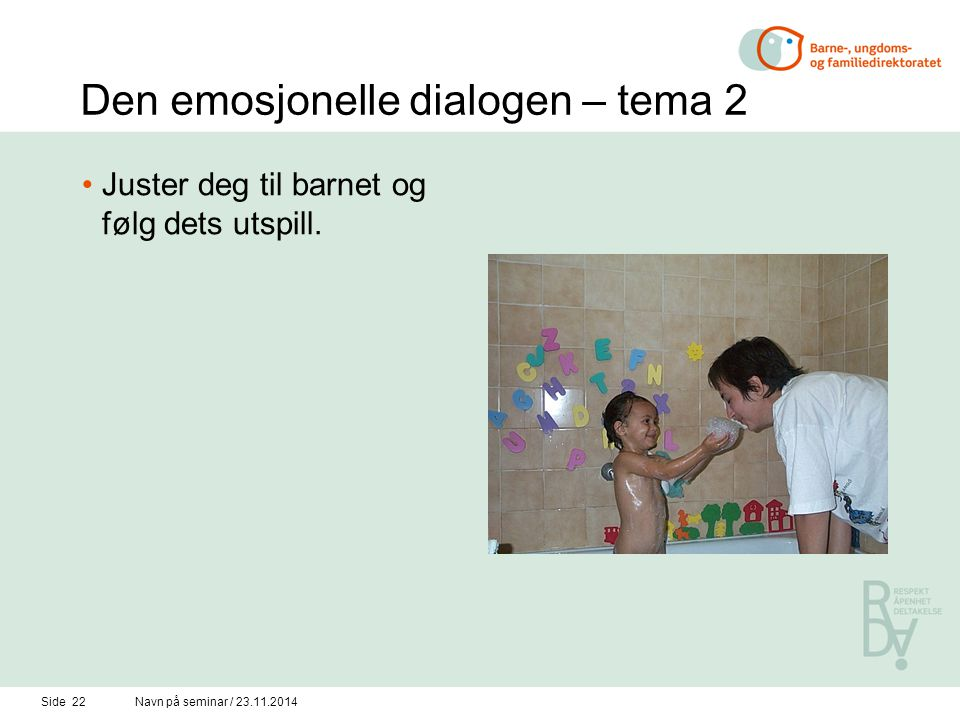 Den emosjonelle dialogen – tema 2